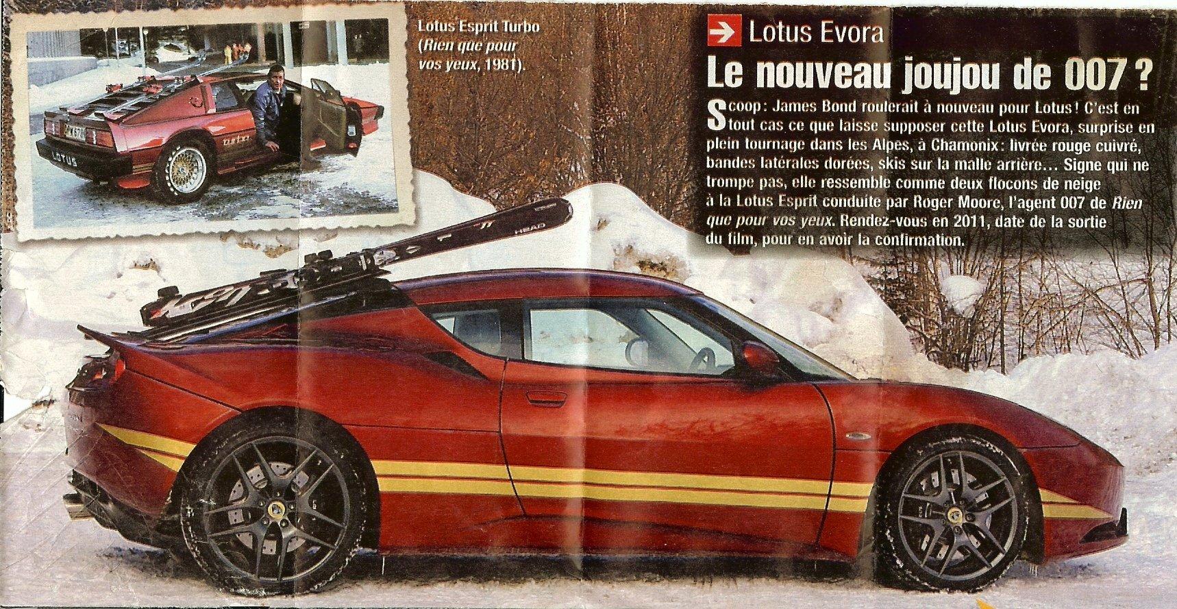 Lotus Evora Peut Etre La Prochaine James Bond Car 171 L